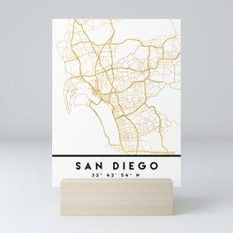 SAN DIEGO CALIFORNIA CITY STREET MAP ART Mini Art Print