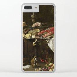 Adriaen Van Utrecht - Banquet Still Life Clear iPhone Case