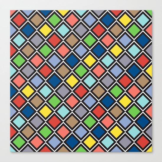 Colorful Geometric Pattern III Canvas Print