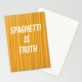 Spaghetti is truth Stationery Cards