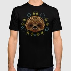 Sloth Face MEDIUM Black Mens Fitted Tee