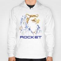 rocket Hoodies featuring Rocket by offbeatzombie