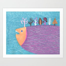 Fish Forest Art Print