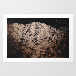 dark mountains. night photography. Art Print