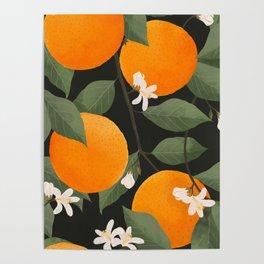 fresh citrus // dark Poster