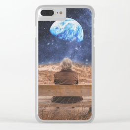 PLANET EARTH, THE UNIVERSE AND I Clear iPhone Case