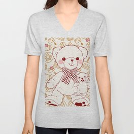 The Adventures of Bear and Baby Bear-Pastry Unisex V-Neck