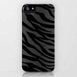 Zebra Stripes on Dark Gray iPhone Case