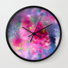 Spring floral paint 1 Wall Clock