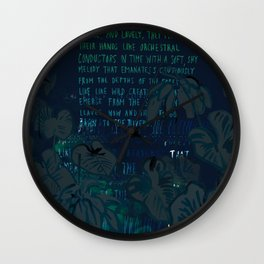"""""""Conquest of the Useless"""" by Werner Herzog Print (v. 8) Wall Clock"""