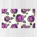 Hand drawn purple roses by inides
