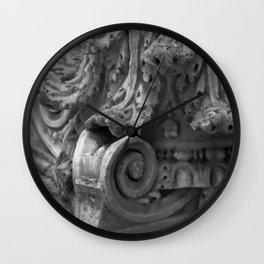 Pedestal detail Wall Clock