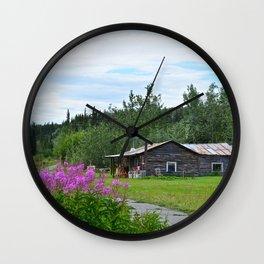 Pioneer Cabin - Alaska Wall Clock