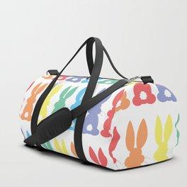 Rainbow Easter Bunny Silhouette Parade Duffle Bag