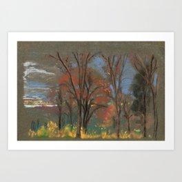 Autumn Woods - Arthur Bowen Davies Art Print