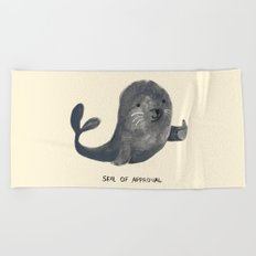 Seal Of Approval Beach Towel
