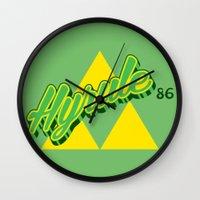 hyrule Wall Clocks featuring Hyrule by Head Glitch
