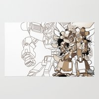 gundam Area & Throw Rugs featuring Gundam Style by RiskeOne opc