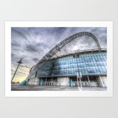 Wembley stadium London Art Print
