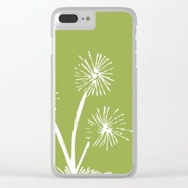 Three Dandelions Clear iPhone Case