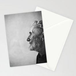Old man portrait Stationery Cards