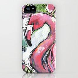Mr. Flamingo iPhone Case