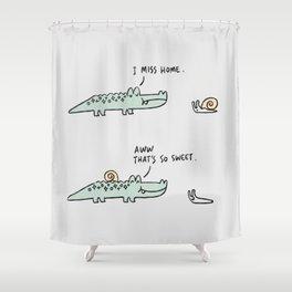 Mr. Croc: Miss Home Shower Curtain