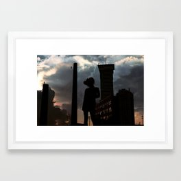 the edge of world's end. Framed Art Print