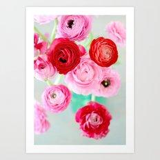 Ranunculus Confetti Art Print