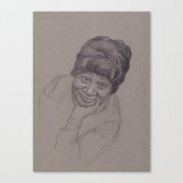 First African American : Zelda Canvas Print