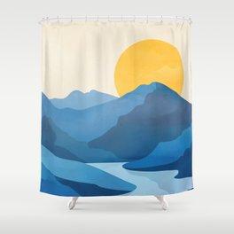 Minimalistic Landscape 10   Shower Curtain