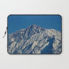 Fresh snow on the mountains of Jasper National Park Laptop Sleeve