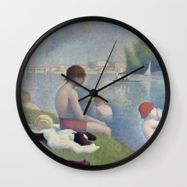Bathers in Asnieres by Georges Seurat, 1884 Wall Clock