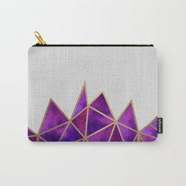 Purple & Gold Geometric Carry-All Pouch