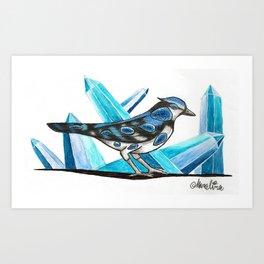 Sapphire Bird Art Print