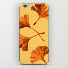 Orange Ginkgo iPhone Skin