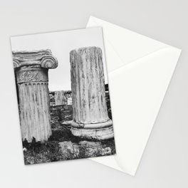 Ruined columns at the Parthenon Stationery Cards