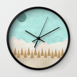 Winter's Morn Wall Clock