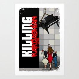 Killing Kardashian Book Back Cove Art Print