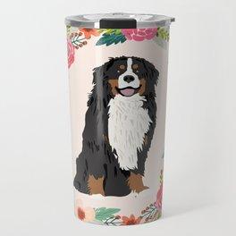 bernese mountain dog floral wreath dog gifts pet portraits Travel Mug