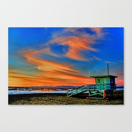 Redondo Beach Sunset at HR Canvas Print
