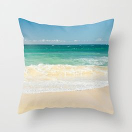 beach blue Throw Pillow