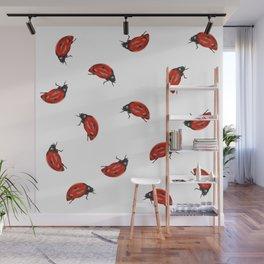 Ladybug Pattern Wall Mural