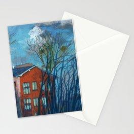 Nesting Season, Impressionism Spring Landscape Pastel Painting Stationery Cards