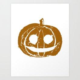 Pumpkin Hand Print Art Print