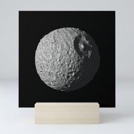 """Mimas Saturn's Moon HD - AKA The Real """"Dark Star"""" Mini Art Print"""