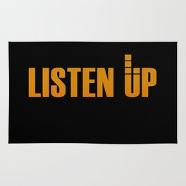 Listen Up Dark Rug