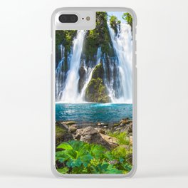 Burney Falls Delight Clear iPhone Case