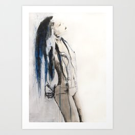 True to her creed, she did not attempt to interfere Art Print