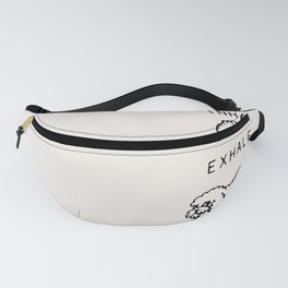 Inhale Exhale Toy Poodle Fanny Pack